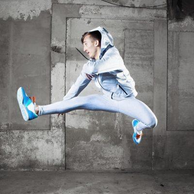 Pánská sportovní bunda - Stříbřitá oblaka